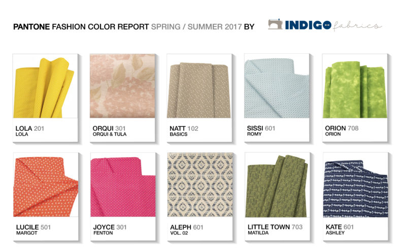 Pantone Fashion Color Report Spring Summer 2017 By Indigo Fabrics