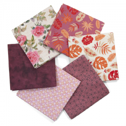 FAT QUARTER ENGLISH ROSES - PACK 6 UDS (PERCAL)