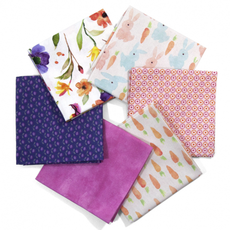 FAT QUARTER BREEZE INDIGO - PACK 6 UDS