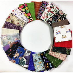 KIT 25 UNIDADES DE FAT QUARTERS ref.11