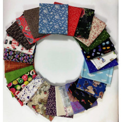 KIT 25 UNIDADES DE FAT QUARTERS ref.22