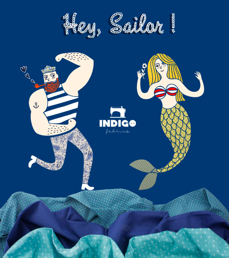 Navy sailor fabrics summer 2017
